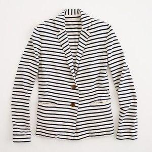 J.Crew Navy Striped Knit Blazer Jacket